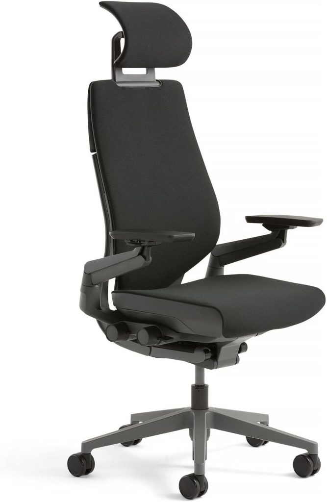Steelcase Gesture with headrest a comfortable office chair for people suffering from lower back pain